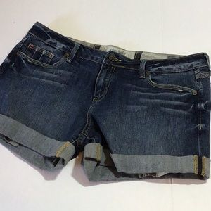 Charlotte Russe cuffed jeans shorts